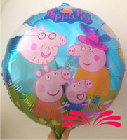 April Fool's Day peppa pig - New Arrival amp Lovely Peppa Pig Design Foil Balloons Party Decoration Holiday Balloon Kids Gift quot