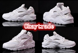 Wholesale Famous Trainers Air Huarache Free Men s Sports Running Shoes White Size