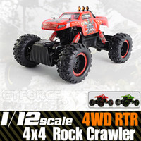 Wholesale 1 scale Electric Rc Rock Crawlers x4 remote control toys rc car WD Off road driving car w motors drive radio control RTR