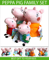 Wholesale Peppa Pig Family Set Plush Cartoon Kids Toys SET Peppa Pig CM Pepa Pepe Pink Pepper Pig Soft Stuffed Children Animal Doll