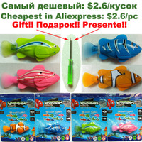 Wholesale 4pcs New Novel Robofish Electric Toy happ Fish Emulational Toy Robot Fish Electronic pets Creative Baby toys No batteries for
