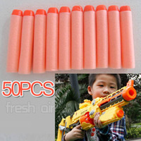Wholesale 50Pcs Shooting Round Head Soft Bullets Toys For Gun Blaster Nerf N Strike Recon