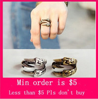 Band Rings Women's Alloy Min.Order $5( Mix Jewelry order) Punk Eagle Bird Claw Paw Talon Over The Midi Tip Finger Above The Knuckle Ring D0121