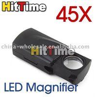 Wholesale New LED X Fold Eye Jewelry Loupe Magnifier Microscope
