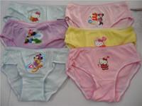 Wholesale Cute Cartoon Mixed Designs Girl s Briefs Children Underwear Kid s Underwear Sizes Available