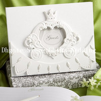 Wholesale Cute Crown White Resin Wedding Party Supplies Colour Schemes Accessories Guestbook and Pen Set