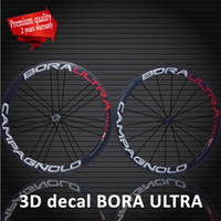 Wholesale Top quality mm Carbon fibre bike racing wheels D Campagnolo Bora Ultra Two Clincher Tubular Road bike bicycle wheels wheelset