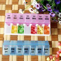 Plastic Bedding Eco Friendly AM PM 7 Day Large Pills Medicine Tablet Box Dispenser Organizer Holder Case#23297