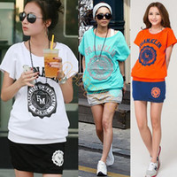 Wholesale Hot Selling New Hot Fashion Women Girl s Sports Wear Short Sleeve Top Skirt Jogging Two piece Set Suit B16