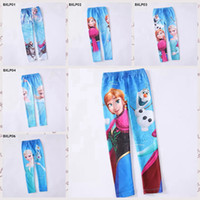 Leggings & Tights Girl Spring / Autumn stock frozen baby girls leggings princess Elsa Anna long pants snow queen trousers kids tights Tight pants panty girdle 6 designs 6pcs lot