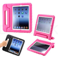 Wholesale 10 Children Kids Baby Safe Soft ShockProof EVA Handle Cover Case With Stand For ipad mini ipad air ipad air free ship