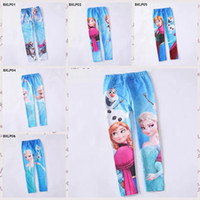 Wholesale stock frozen baby girls leggings princess Elsa Anna long pants childrens skinny pants kids tights Tight pants designs