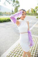 Wholesale UV sunscreen chiffon lace sleeves bag