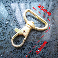 Bag Hanger Metal LC free shipping G034 new 50 pcs 43x25mm gold plated metal lobster swivel clasp clip lanyard hook swivel snap for key ring