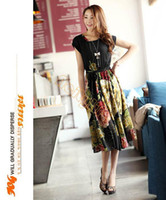 Wholesale High Quality Spring Sexy Fashion Short Sleeve Slim Chinese Dress Vintage Retro With Floral Printed SV000258 b007