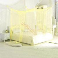 Wholesale Bed Netting Four Corner Point Bug Insect Mosquito Net Large Bed Canopy Size cm Wx cm Lx cm H OS00045