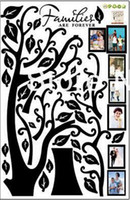Wholesale High quality Extra Large cm cm diy size Photo Frames Tree Removable Art Vinyl Wall Stickers Decor Mural Decal