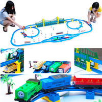 Trains other other Wholesale- top quality oversized thomas train set interesting kids education toy set track hot sale best summer gifts407