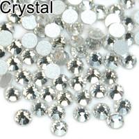 Wholesale 1440pcs High Quality Crystal FlatBack Non Hot Fix Rhinestones Nail Art SS4 SS5 SS6 SS8 SS10 SS12 SS16 SS20