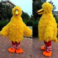 big bird halloween costumes - mascot costume plush yellow big bird mascots party fancy dress halloween clothing cartoon character costume price