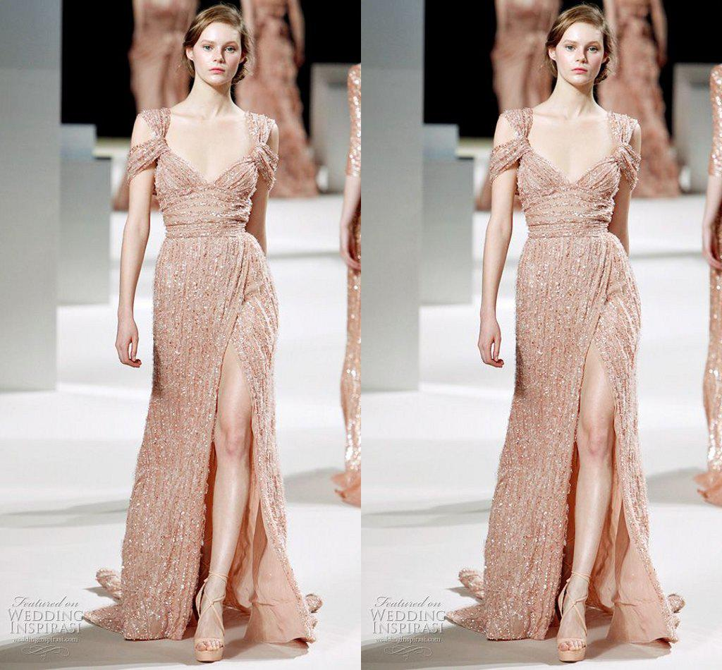 Luxurious 2015 Elie Saab Evening Dresses Capped Sleeve ...