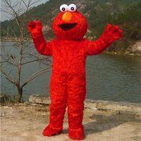 Unisex adult elmo costumes - Sesame Street Red Elmo Mascot Costume Party Costumes Chirstmas Fancy Dress elmo costume mascot Adult Size