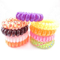 Wholesale Candy Hair Rubber Bands With Elastic Telephone Rope Hair Ring Pony Tails Holder Headband Hair Holder Ornament