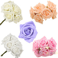 Wholesale 10PCS SET beautiful bridal bouquet of roses decorated the first verse bridesmaid wedding party hand latex
