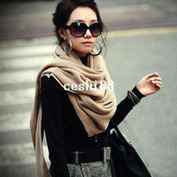 Adult  New Cotton,Cashmere 2014 New Fashion Knitted Wool Yarn Soft Solid Color Super Warm Cashmere Scarf For Women Winter Pashmina Long Shawl 80616