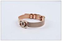 HOT sale female gold and rose gold bracelet, titanium steel ...