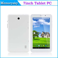 Wholesale Cheap Wifi Sim Tablets - Cheap 3G 7inch MTK8312 Daul Core 3G 2G Phone call Tablet PC Android 4.4 With GPS Bluetooth Android 4.4 Dual SIM Card 1024*600 Phablet 002363