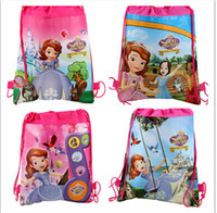 New 4styles frozen drawstring bags Sofia the first backpacks...