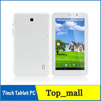 Wholesale 7inch Phone call tablet pc MTK8312 G WCDMA G GSM Dual Core Android With GPS Bluetooth Dual SIM Card mAh