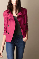 Wholesale New Designer Women Elegant Double Breasted Trench Coat