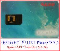 For Apple iPhone att shipping - Latest GPP iOS7 gpp iOS7 iOS unlock sim card for iphone S S C G support sprint att t mobile AU SB unlock free ship