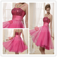 Reference Images Spaghetti Straps Organza Shining Sexy Spaghetti Straps Cocktail Dresses With Sequins And Bandage Knee Length Zipper-up Homecoming Dress Fancy Organza Fabrics Cheap