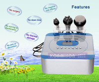 Wholesale 3 in portable Home Use beauty salon equipment of Cavitation RF Slimming Machine for facial and body slimming and tightening