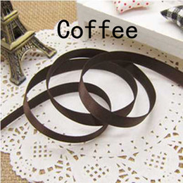 Wholesale DIY packaging ribbon belt Coffee Ribbons gift decoration CM baking cake packing belt Wedding gift packaging silk candy box Ribbons colors
