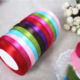 Wholesale DIY gift packaging ribbon Coffee Ribbons gift decoration CM baking cake packing with Wedding gift packaging silk candy box Ribbons colors