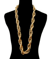 Wholesale Hip Hop long Chunky chain necklace