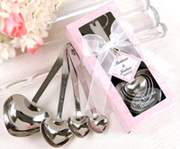 wedding souvenirs - 2014 Wedding Party Gifts Heart Shaped Measuring Spoons in beautiful gift package wedding souvenir giveaway supplies Chinese Best