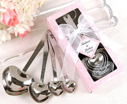 2019 Wedding Party Gifts Heart Shaped Measuring Spoons in beautiful gift package wedding souvenir giveaway supplies Chinese Wholesale Best