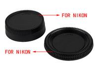 Wholesale Camera lens cover Brand New Rear Lens Cover Camera Body Cap for Canon and Nikon DSLR SLR E4004