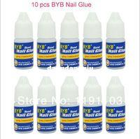Nail Art 3D Decoration Nail Art Rhinestones Nail Gel Wholesale-Promotional discounts Free Shipping 10 Pcs 3g GLUE ACRYLIC UV GEL FALSE Full French NAIL ART TIPS Decoration Tools407