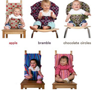 feeding seat baby chair - kis kise NEW baby Feeding Sack Seat safety seat belt dining chair seat belt bramble blue stripe pink stripe chocolate circles apple