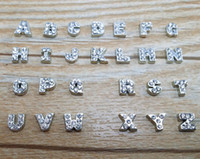 Wholesale 104PCS A Z Crystal Letter Heart Floating Charm for Glass Living Memory Locket