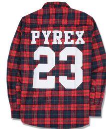 Wholesale Pyrex vision fashion flannel plaid shirt man s long sleeve shirt plaid flannel shirt long sleeved shirt tide male