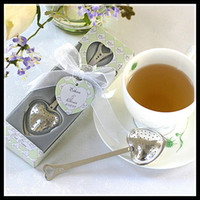wedding souvenirs - 2014 Wedding Party Gifts Heart Shaped Spoons Tea Infuser Strainer Filter wedding souvenir giveaway supplies for Bridal Showers