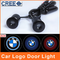Wholesale LED Car Door Light bmw logo Laser Emblem Badge Projector Courtesy Welcome Laser CREE Auto x5 x6 E30 E46 E70 E90 Ghost Shadow Car Styling