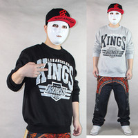 Cotton Cardigan Sweatshirts Autumn and winter male sweatshirt la kings personality casual pullover outerwear hiphop skateboard men's clothing hip-hop